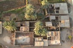 Pueblos cerca de Asuán en Egipto Fotografía de archivo