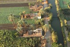 Pueblos cerca de Asuán en Egipto Fotografía de archivo libre de regalías