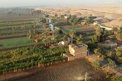 Pueblos cerca de Asuán en Egipto Foto de archivo libre de regalías