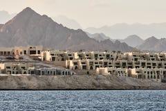 Pueblos en costa en el jeque del al de Sharm fotografía de archivo