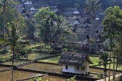 Pueblos tradicionales del Naga de Kampung Imagen de archivo libre de regalías