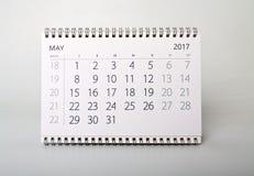pueda Calendario del año dos mil diecisiete fotos de archivo libres de regalías