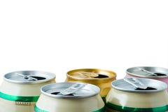 Pueda con la cerveza Foto de archivo libre de regalías