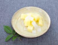 Pueda de la ensalada de fruta foto de archivo