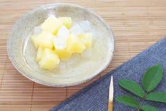 Pueda de la ensalada de fruta fotografía de archivo