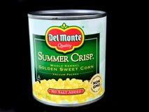 Pueda del maíz de Del Monte Summer Crisp Golden Sweet Imágenes de archivo libres de regalías