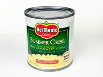 Pueda del maíz de Del Monte Summer Crisp Golden Sweet Imagen de archivo