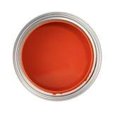 Pueda llenado de la pintura roja Imágenes de archivo libres de regalías