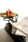 Puede causar dolores de cabeza o vértigos Imágenes de archivo libres de regalías