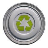 Puede con reciclar símbolo foto de archivo