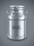 Puede el envase para el vector de la leche Foto de archivo libre de regalías