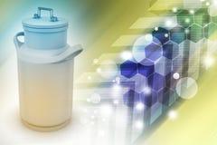 Puede el envase para la leche Imagen de archivo libre de regalías