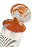 Puede la salsa de tomate Fotografía de archivo libre de regalías