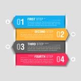Plantilla del diseño de Infographics Foto de archivo