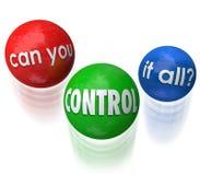Puede usted controlarlo todas las palabras que hacen juegos malabares prioridades de las bolas Imagen de archivo libre de regalías