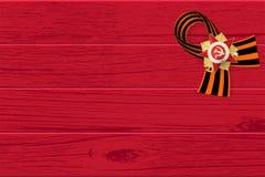 9 pueden cinta de San Jorge del tablero de madera Imágenes de archivo libres de regalías