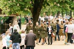 9 pueden el regimiento 2017 del Immortal de Taganrog Foto de archivo