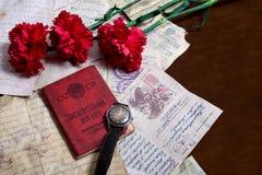 9 pueden Todavía vida dedicada a Victory Day Imagenes de archivo