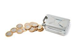 Pueden y las monedas Fotografía de archivo libre de regalías