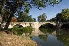 Puenctecillas bridge in Palencia, Castilla y Leon,. Spain stock images