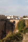 Puenta Nueva - the bridge  of the spanish town Rond Stock Image