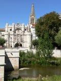 Puente Υ Arco de Σάντα Μαρία, Burgos (Ισπανία) Στοκ φωτογραφία με δικαίωμα ελεύθερης χρήσης