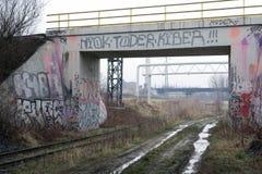 Puente abandonado Foto de archivo libre de regalías
