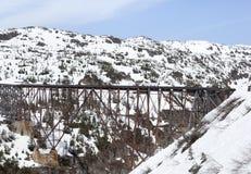 Puente abandonado en Alaska Imagenes de archivo