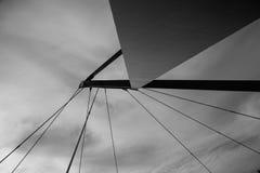 Puente abstracto en Aveiro, Portugal Foto de archivo libre de regalías