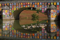 Puente adornado en Gascoña Imagen de archivo