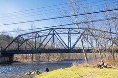 Puente agradable Connecticut del valle imagenes de archivo