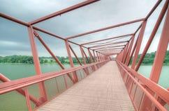 Puente al humedal de Lorong Halus, Singapur Foto de archivo libre de regalías