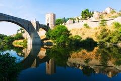 Puente of Alcantara in sunny day. Toledo Stock Image