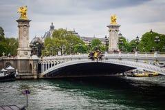 Puente Alexander III Foto de archivo libre de regalías