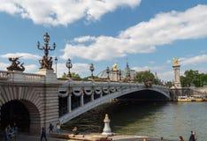 Puente Alexander III en París Fotografía de archivo