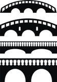 Puente antiguo de piedra, barandilla Foto de archivo