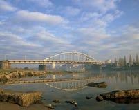 Puente Arnhem de la helada de Juan Imagen de archivo