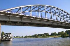 Puente Arnhem de la helada de Juan Fotos de archivo libres de regalías