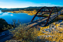 360 puente Austin Texas Morning Sunrise Foto de archivo libre de regalías