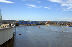 Puente azul Foto de archivo libre de regalías