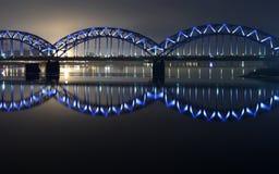 Puente azul fotos de archivo