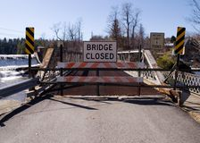 Puente bajo construcción Foto de archivo libre de regalías