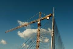 Puente bajo construcción fotos de archivo