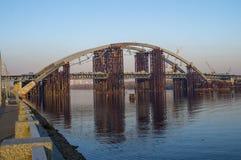 Puente bajo construcción Fotos de archivo libres de regalías