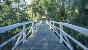 Puente blanco Imágenes de archivo libres de regalías