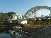 Puente blanco del tren Fotografía de archivo