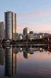 Puente céntrico de Vancouver y del cambie Foto de archivo libre de regalías