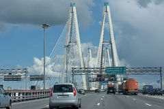 puente Cable-permanecido Fotos de archivo