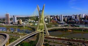 puente Cable-permanecido en el mundo, São Paulo Brazil metrajes