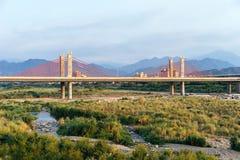 Puente Cable-permanecido, Hsinchu, Taiwán Fotografía de archivo